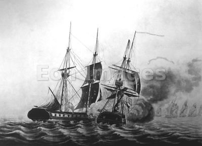 Capture of HMS Frolic by USS Wasp during War of 1812
