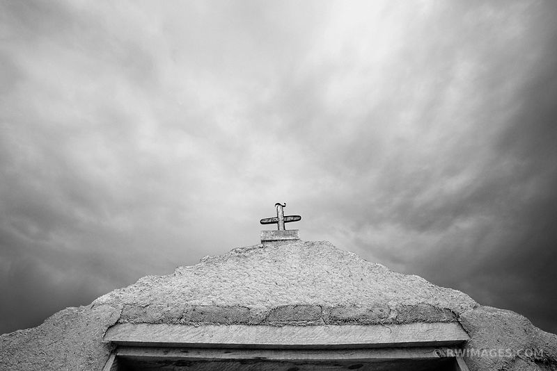 SAN JOSE DE GRACIA LAS TRAMPAS CATHOLIC CHURCH NEW MEXICO BLACK AND WHITE
