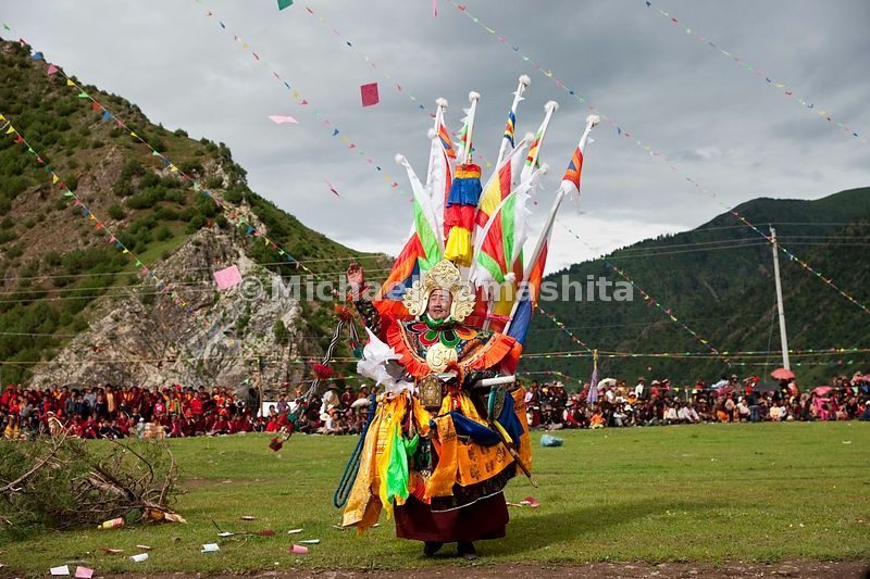 Chamadao, Shechen Monastery, Ling Gesar Festival, held for the first time. Ling Gesar is the father of Tibet, who united all ...