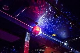 A mirror ball at a night club in Cologne, Germany.