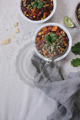 Sweet Potato and Corn Chocolate Chili