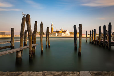 Venice, view on San Giorgio, long exposure