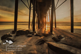 Golden Rays Under the Pier
