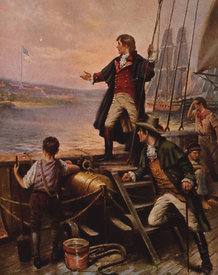 Francis Scott Key receives inspiration for Star-Spangled Banner