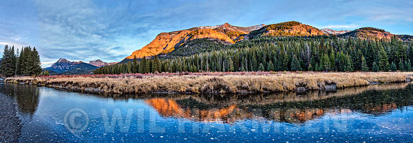 Soda Butte Creek Sunset Panoramic