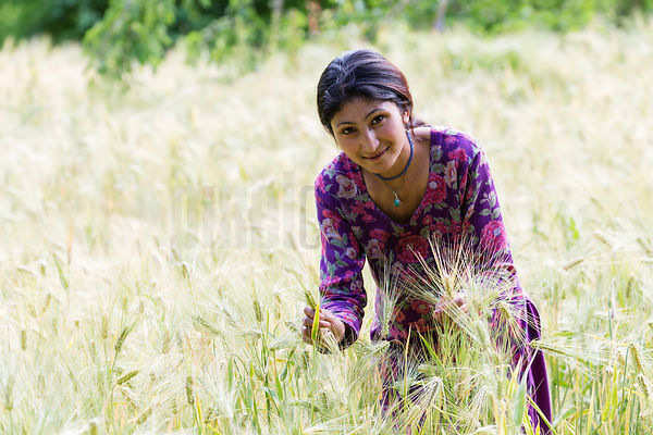 Portrait of Padhma in a Field of Barley