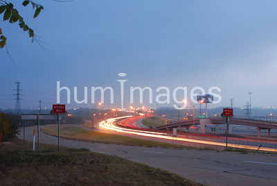 Irving, Texas traffic blurred cars, streaks of light