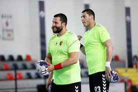 Stojance Stoilov and Dejan Kukulovski during the Final Tournament - Semi final match - Vardar vs Meshkov Brest - Final Four -...