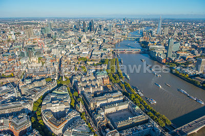 Aerial view of Aldwych, London.