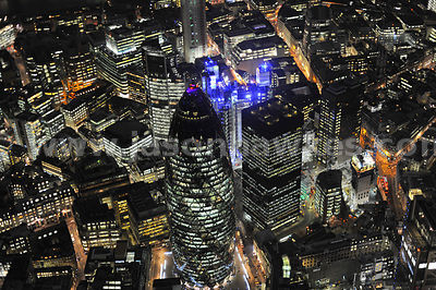 Looking down onto Swiss Re Tower and The Lloyds Building. g