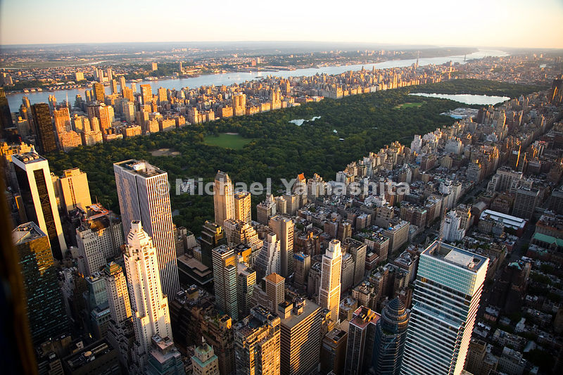 Central Park is a 844-acre front yard for some of the most expensive real estate in the world.  Manhattan, New York City.