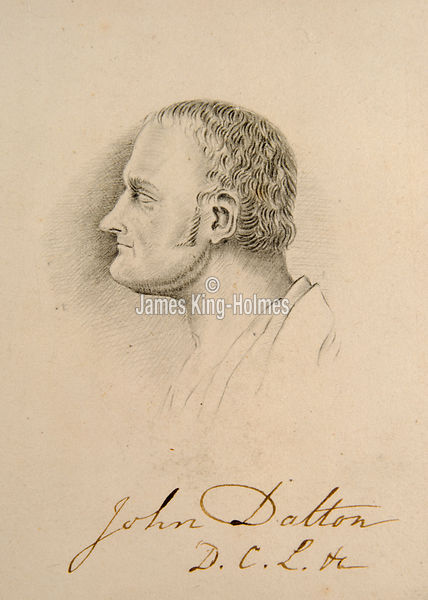 Autographed Portrait of John Dalton as a young man