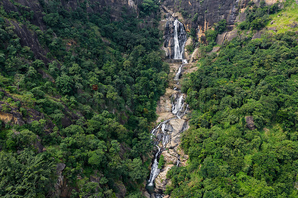 Aerial View of Ravana Falls