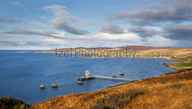 The military refueling pier at Loch Ewe in the Scottish Highlands, Scotland. UK.
