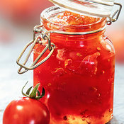 Tomato Jam in Glass Jar