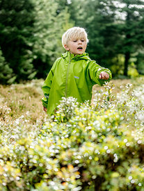 Little Danish boy picking berries in the woods 2