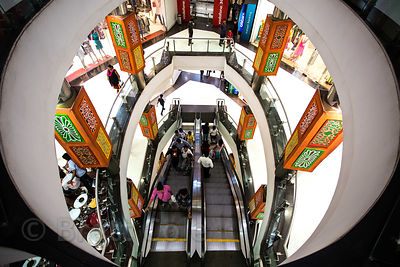 Interior of South City Mall, Jadavpur, Kolkata, India. It's the largest mall in East India.