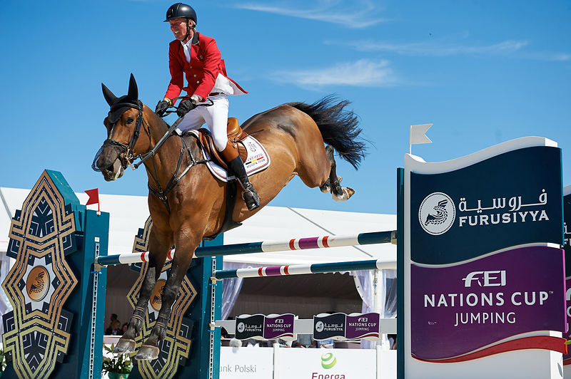 LANSINK Jos, (BEL) ENSOR DE LITRANGE LXII during Furusiyya FEI Nations Cup competition at CSIO5* Sopot at Hipodrom, Sopot - P...