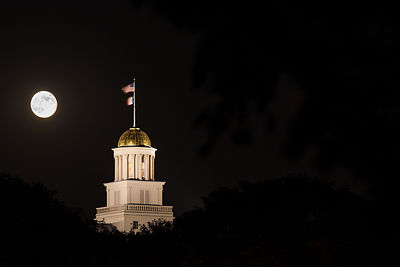 Moonrise over Old Cap