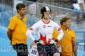 Women's Team Sprint Qualification, Track Day 1, Toronto 2015 Pan Am Games, Milton Pan Am/Parapan Am Velodrome, Milton, On; Ju...