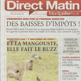 Cover page of Direct Matin photos
