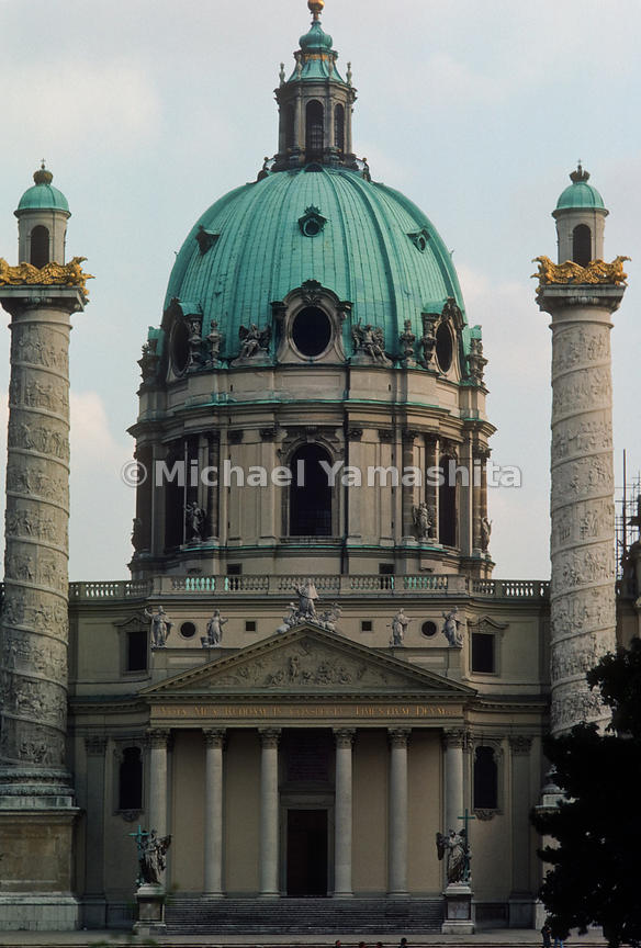 Historic Centre of Vienna, Austria..St. Charles's Church