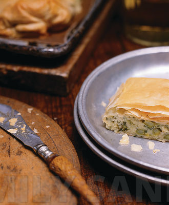 Leek and Asparagus Strudel