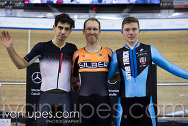 Men Kilo Time Trial Podium. Ontario Track Championships, March 4, 2018
