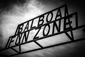 Balboa Fun Zone Sign Picture Newport Beach