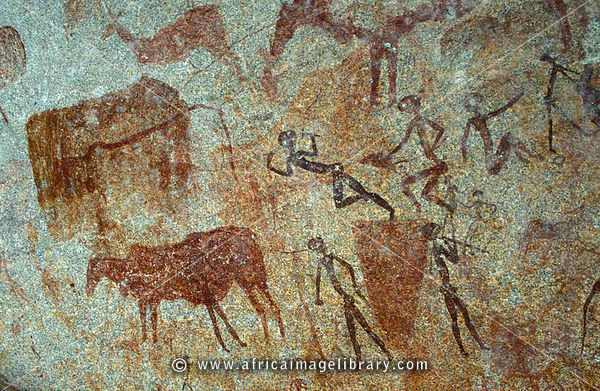 rock paintings, Lake Chivero Recreational Park, near Harare, Zimbabwe