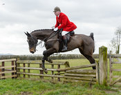 Andrew Osborne jumping a fence at Burrough House
