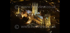 Ely cathedral at night
