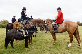 Frances Moulaert, Michael Dungworth at Belvoir Hunt Opening Meet 2018
