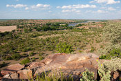 Confuence view site, confluence of the Limpopo and Shashe rivers, Mapungubwe National Park, South Africa