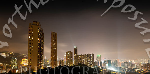 Hong Kong Island skyline from Tai Hang