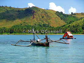 Outrigger fishing boat Lombok