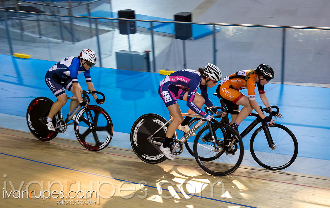 Junior Women Omnium Points Race. 2015 Canadian Track Championships, October 11, 2015