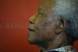 A study of Nelson Mandela during his visit to NUI, Galway..Photo by Aengus McMahon
