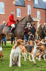 John Holliday At the Meet. The Belvoir Hunt at Sheepwash 29/12