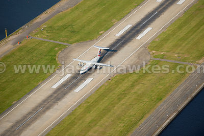 Aeroplane on London City Airport Runway