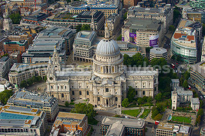 London. Aerial view of St Paul's Cathedral