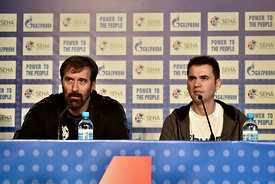 Veselin VUJOVIĆ of PPD Zagreb, Raul GONZALES of VARDAR during the Final Tournament - Final Four - SEHA - Gazprom league, pres...