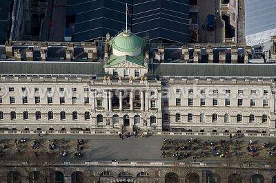 Somerset House aerial view, London