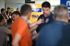 Ivan Pesic of Meshkov Brest during the Final Tournament - Media Meeting - Final Four - SEHA - Gazprom league, Skopje, 14.04.2...
