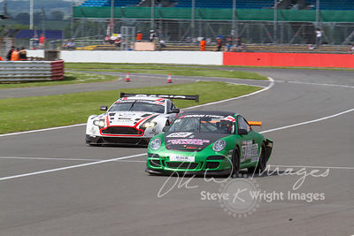 APO Motorsport's Porsche 911 GT4 in action at the Silverstone 500 - the third round of the British GT Championship 2014 - 1st...