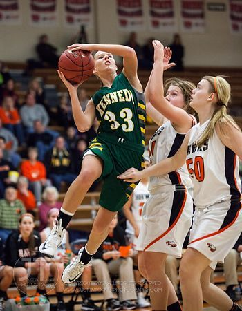 Cedar Rapids Kennedy vs Cedar Rapids Prairie Girls Basketball December 11, 2012