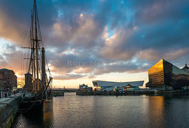 Canning Dock at Evening Time