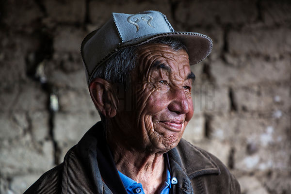 Portrait of a Kyrgyz Farmer in his Barn