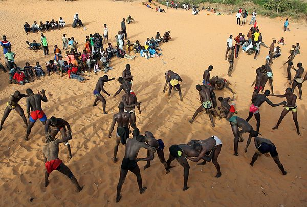 The Lansar wrestling school in Thiaroye near Dakar.