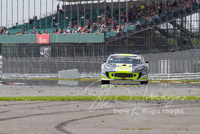 The Twisted Team Parker Ginetta G55 GT4 in action at the Silverstone 500 - the third round of the British GT Championship 201...